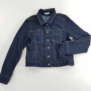Eileen Fisher Denim Jacket Organic Cotton Coat